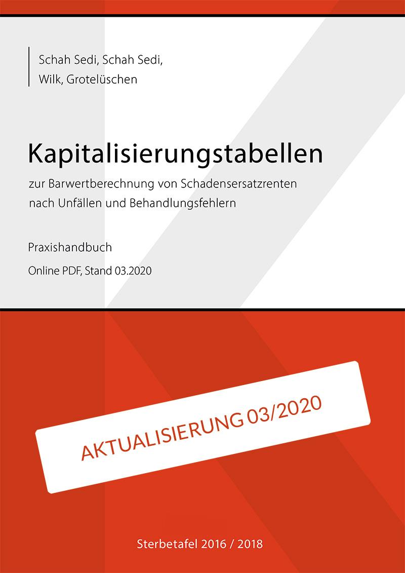 Schah Sedi Kapitalisierungstabellen Stand 03.2020