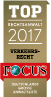 Schah Sedi und Schah Sedi - Top Rechtsanwalt 2017 Verkehrsrecht bei Focus