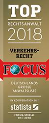 Schah Sedi und Schah Sedi - Top Rechtsanwalt 2018 Verkehrsrecht bei Focus